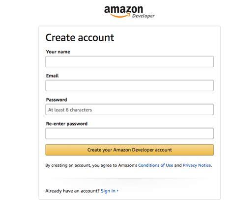 amazon developer amazon developer account setup help center