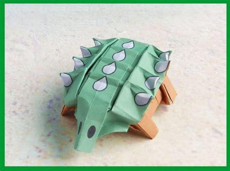 Origami Ankylosaurus - joost langeveld origami page