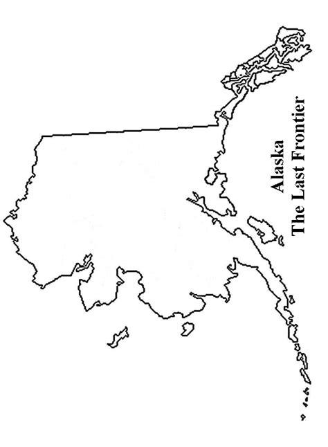 alaska map coloring page printable alaska flags emblems symbols outline maps