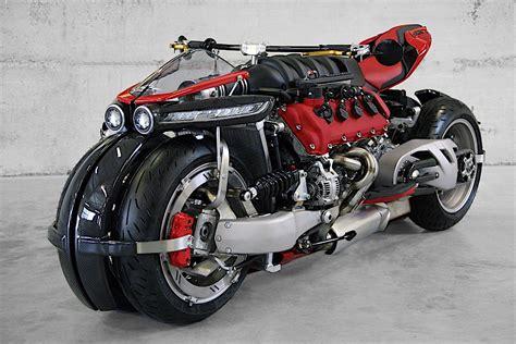 A Ferrari Engine by A Ferrari F136 Engine Shoehorned Into A Lazareth Motorcycle