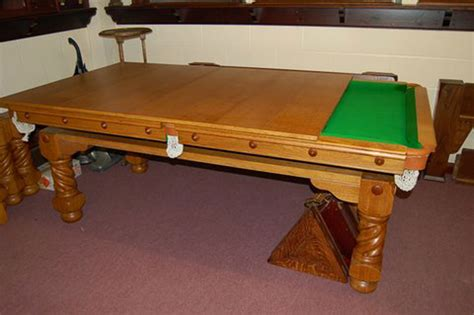 Dining Pool Table Combination Oak Barley Twist Combination Snooker Pool Dining Table