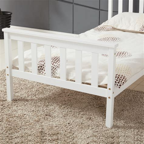 single bed in white 3ft single bed wooden frame white pine