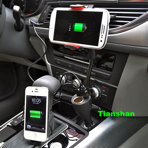 iphone 5s car mount and charger mobile cell phone holder car mount 2 usb phone charger