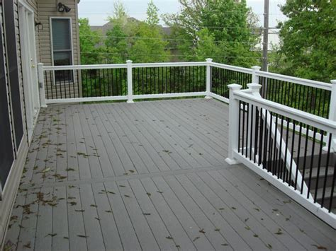 gray deck composite deck gray with white composite decking deck ideas pinterest grey decks and
