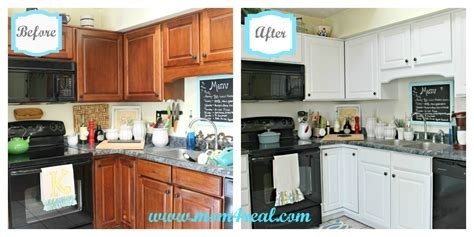 paint kitchen cabinets white before and after white kitchen reveal a before after mom 4 real