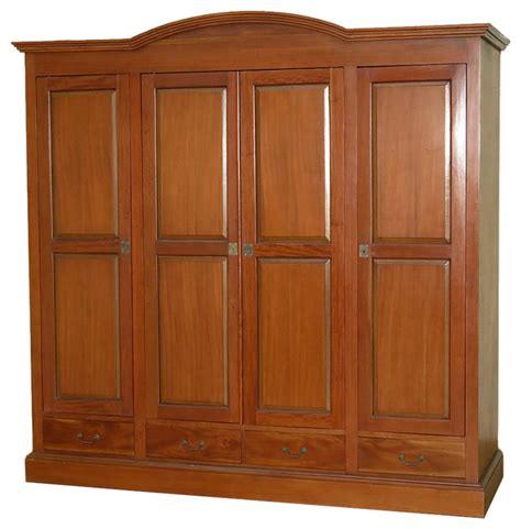 Large Armoire Wardrobe Large Mahogany 4 Pocket Doors Media Entertainment Armoire