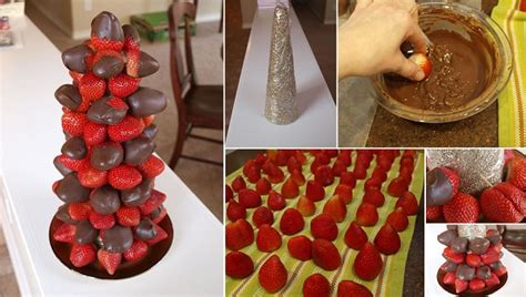 chocolate covered strawberry tree pictures
