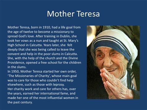 mother teresa full biography in hindi influential women after world war ii 6th period guyer