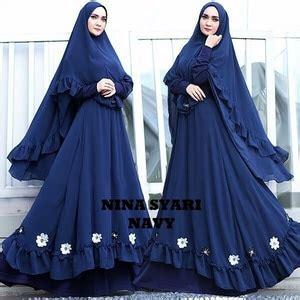 baju gamis syari busui setelan hijab muslimah wanita modis