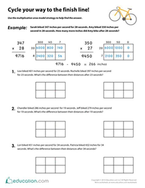 Area Model Multiplication Worksheets by Area Model Worksheet Wiildcreative