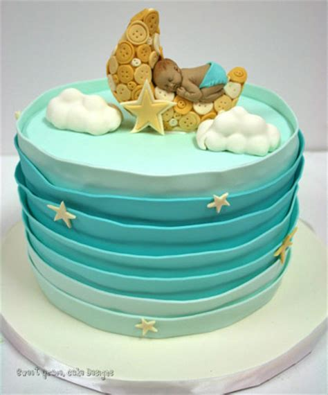 Baby Shower Cakes Nj by Baby Shower Cakes New Jersey Sleeping Baby On Moon