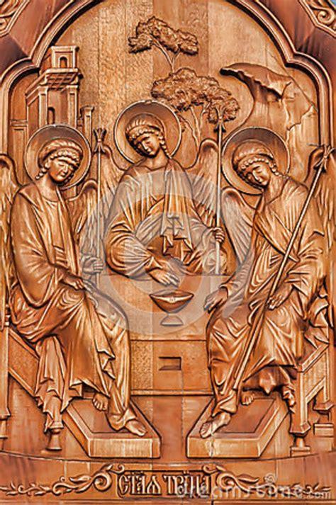 fresco old fresco woodcarving royalty free stock photo