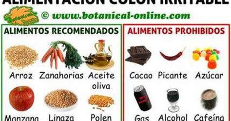 dieta  colon  intestino irritable alimentos prohibidos  recomendados colitis