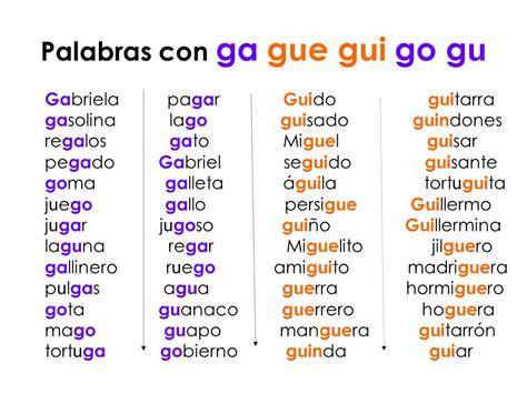 palabras con la letra g g ejemplos de palabras con g grado primero 2016 pslabras con g