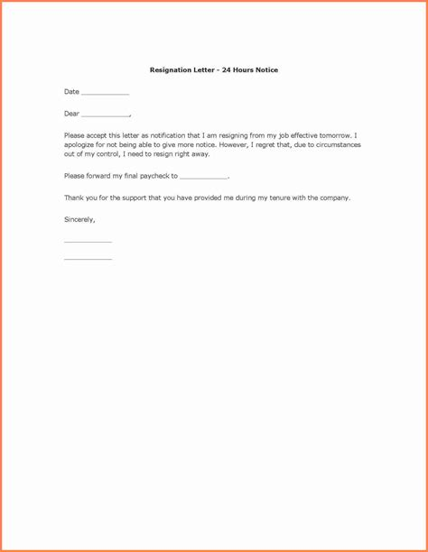 Notice Letter For Resignation by 5 Copy Of A Resignation Letter With Notice Notice Letter