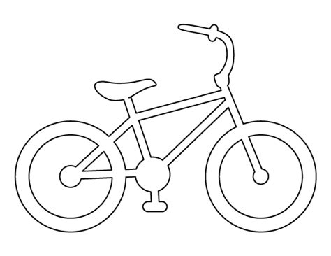 bike frame template bike pattern use the printable outline for crafts