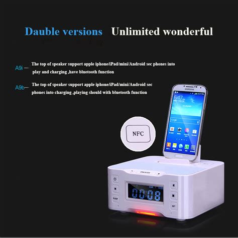 android station portable loudspeaker a9 bluetooth speaker nfc dock station for apple samsung android ipod touch
