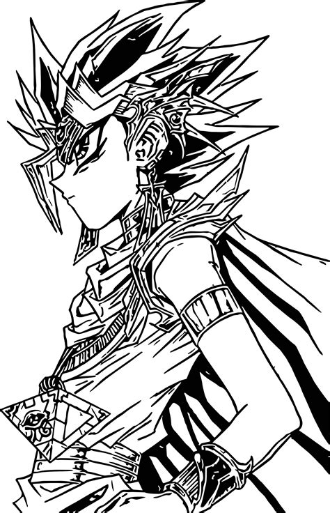 yu gi oh look coloring page wecoloringpage