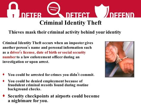 Does Shoplifting Go On Your Criminal Record Identity Theft Presentation