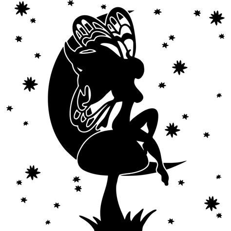 imagenes de hadas en blanco y negro elige el color de este vinilo infantil de la silueta de