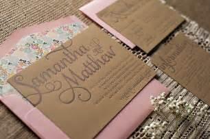 Rustic wedding theme unique wedding invitations