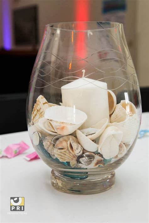 Simple Seashell Candle Centerpiece Candles Pinterest Simple Candle Centerpieces