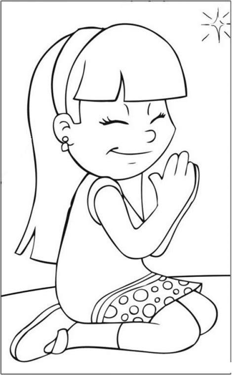 imagenes de niños orando para pintar nina orando dibujo de nena oradora para pintar y colorear