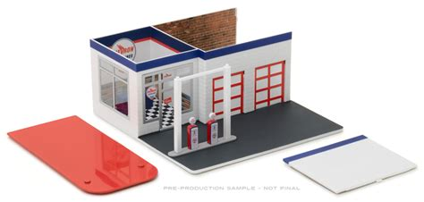 Diorama Mechanics Corner Series 1 Vintage Gas Station Texaco By Gl greenlight diecast chevron vintage gas station diorama mechanics corner