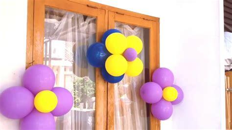 cara membuat dekorasi balon ulang tahun sendiri cara dekorasi balon ulang tahun youtube