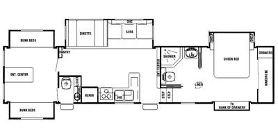 silverback 5th wheel floor plans 2008 cedar creek silverback fifth wheel series m 36l5s