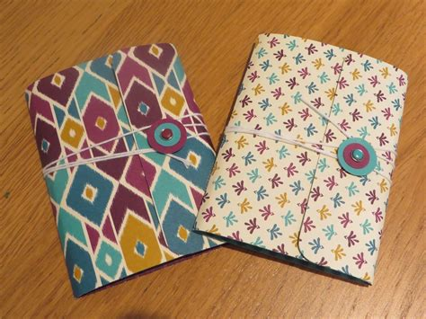 Handmade Notebook - craftycarolinecreates handmade pocket notebook using