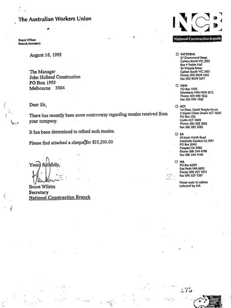 Bank Statement Handover Letter Michael Smith News