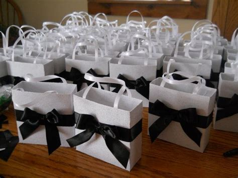 black wedding gift bags elegant black and white wedding party favor gift bags by