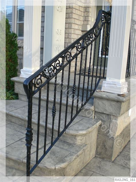 Wrought Iron Handrail Wrought Iron Railing Railing 161 Jpg