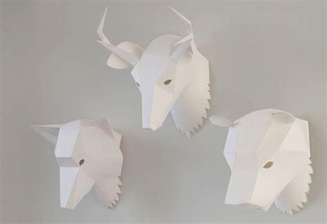 animal paper mask designed  soroche lab twentytwentyone