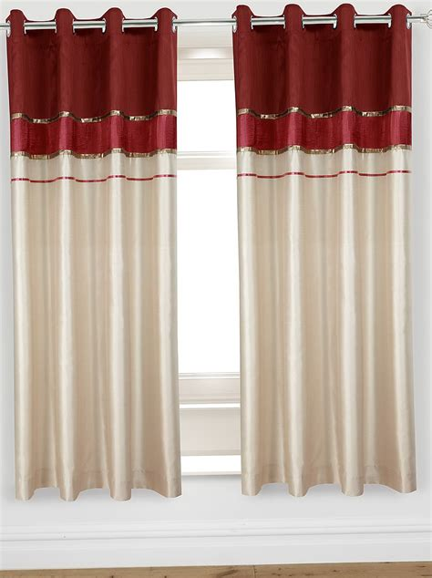 red and cream curtains red and cream curtains with eyelets home design ideas