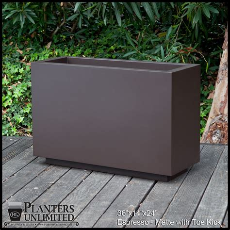 large outdoor planters rectangular long planters
