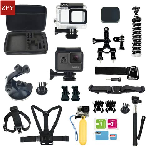 Gopro Set gopro accessories set gopro 5 waterproof protective chest mount monopod for gopro