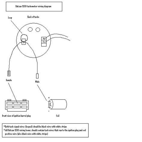 nissan 1400 ballast resistor tech wiki tachometer wiring datsun 1200 club