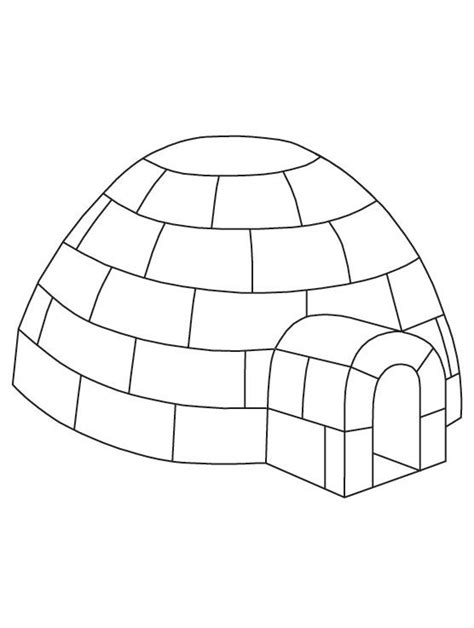 penguin igloo coloring page igloo coloring page free printable igloo coloring page
