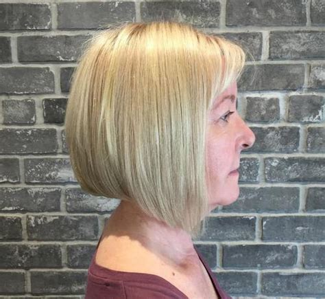 anngled bangs for bob stles fir mature women 40 chic angled bob haircuts
