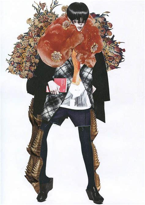 fashion illustration collage a r t