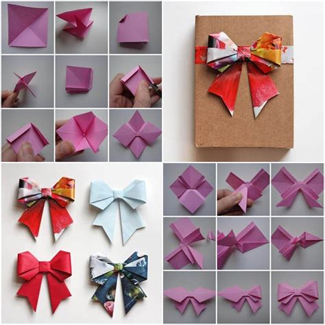 origami bows how to diy origami paper gift bow