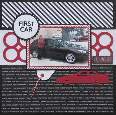 scrapbook layout new car first car scrapbook com scrapbooks pinterest