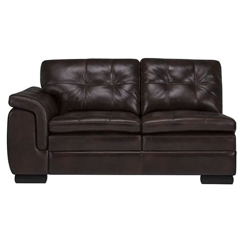 small leather sectional with chaise city furniture trevor dark brown leather small right