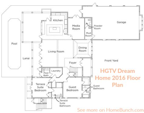 2014 hgtv dream home floor plan floor plans new home hgtv best free home design idea