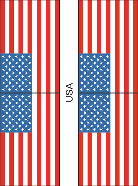 printable us flag pillow box template cake ideas and designs