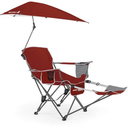 sport brella recliner chair sport brella recliner chair firebrick red walmart com