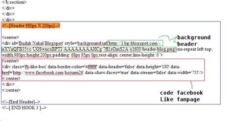 tutorial blogger header cara tukar header template version facebook