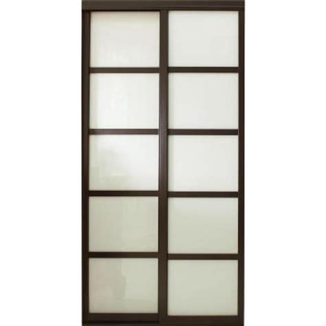 Contractors Wardrobe 96 In X 81 In Tranquility Glass 96 Inch Sliding Glass Door